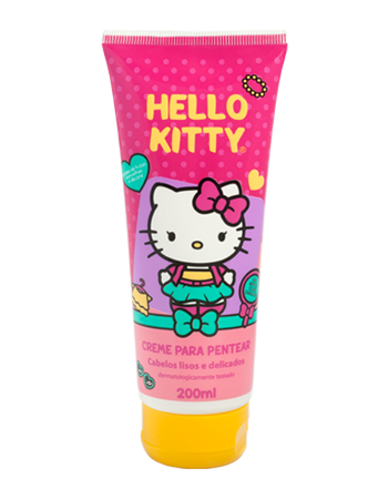 Creme para pentear Lisos e Delicados Hello Kitty 200ml